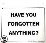 "FORGOTTEN ANYTHING WALL SIGN - 6 1/2"" X 7"""