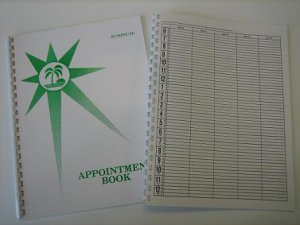 Tanning salon appointment book