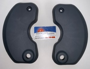 90804-04 |  Hinge Brackets, Left & Right Kit -  CHARCOAL (Dark Grey)